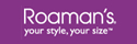 Get cash back when you shop online at Roamans!